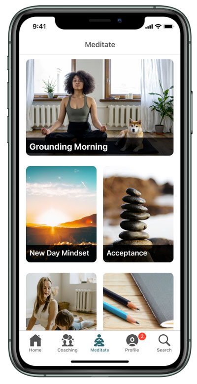 meditation screen on iphone 11