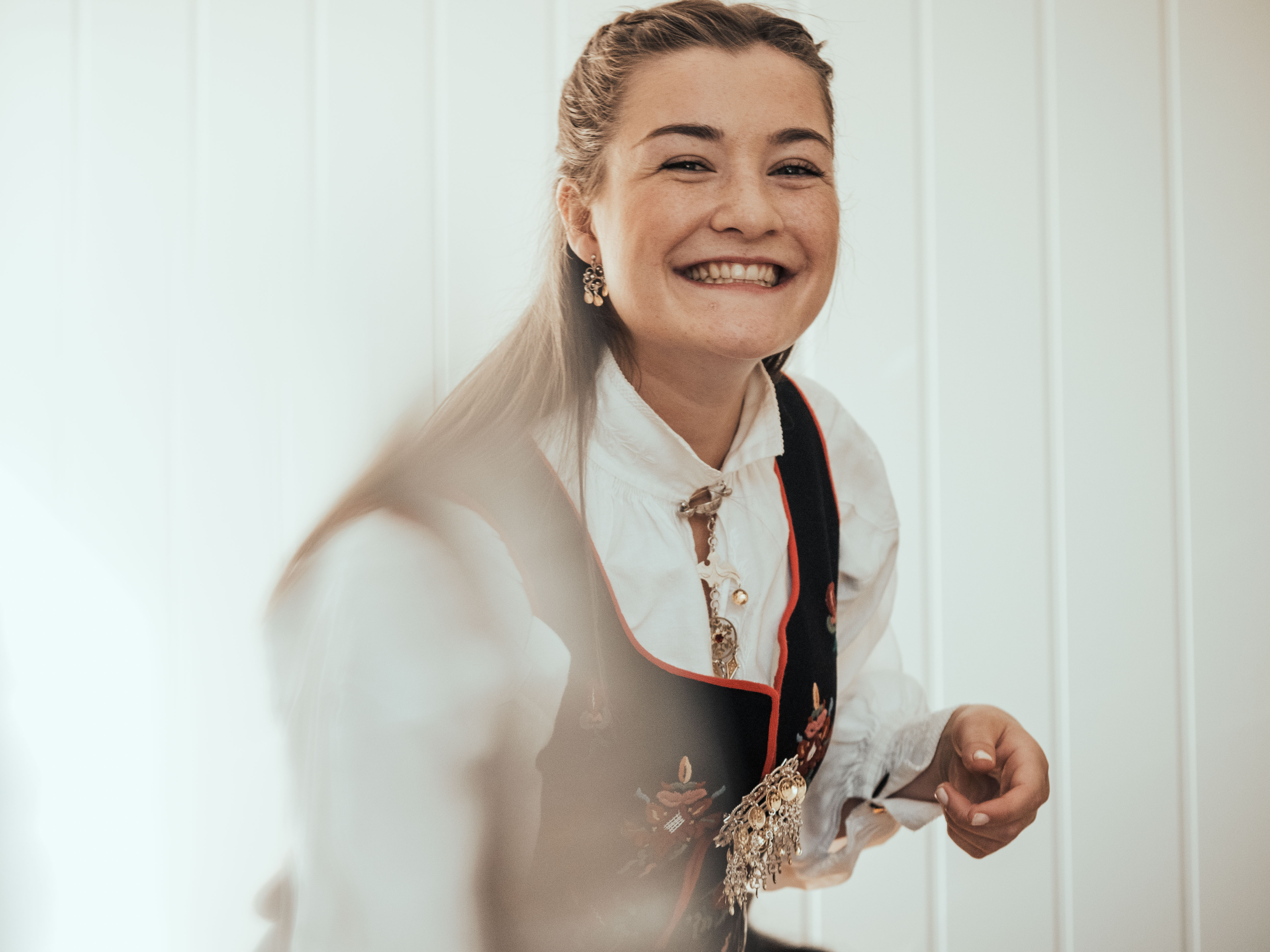 17. Mai 2019 - Smiling woman in bunad