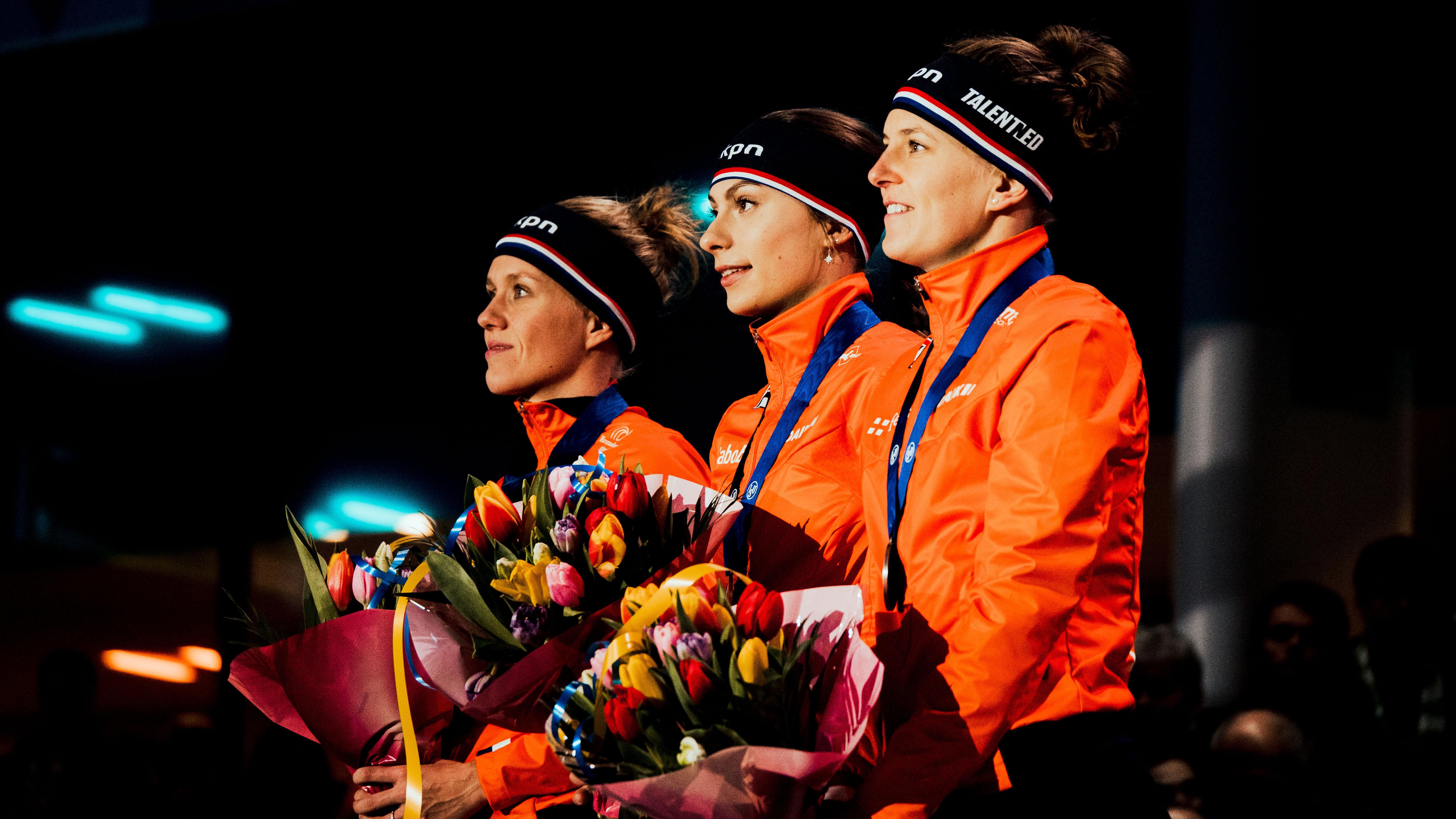 De Jong, Kok, Wust, ISU European Championships 2020