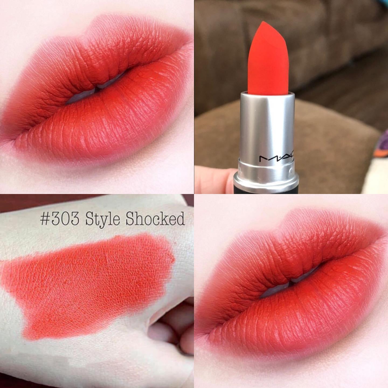 MAC Style Shocked có màu đỏ đỏ cam bắt mắt