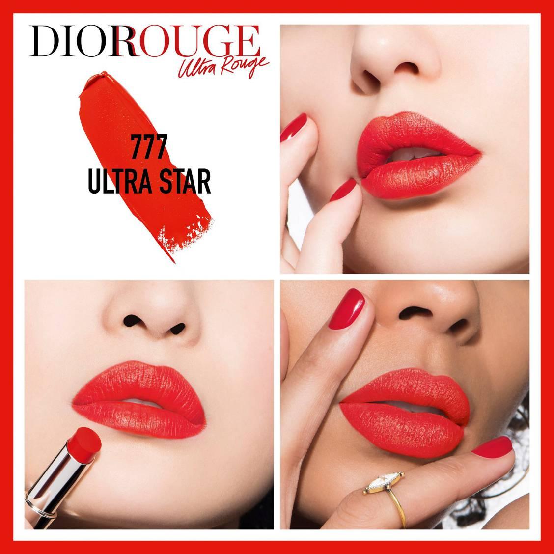 Son Dior Ultra Rouge 777 Ultra star màu đỏ cam tươi trẻ, quyến rũ