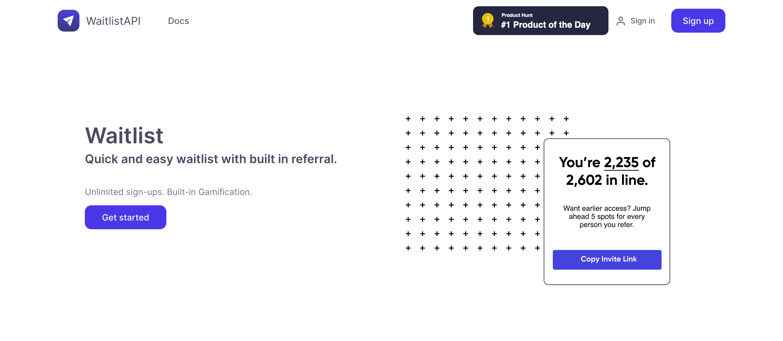 waitlist API free