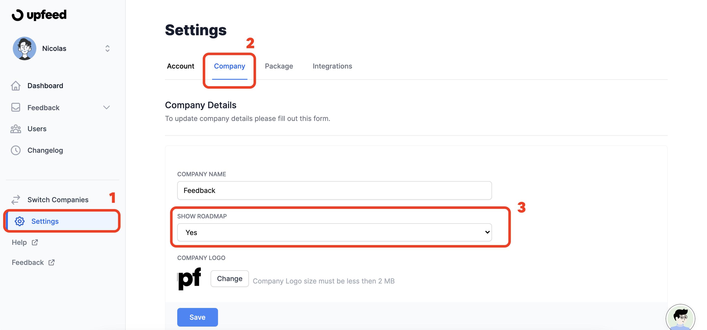 hide roadmap customer feedback upfeed