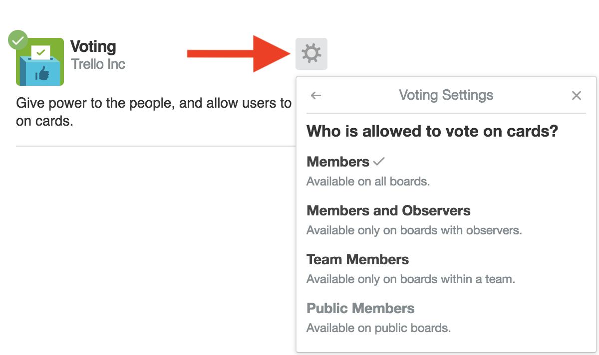 add vote on trello