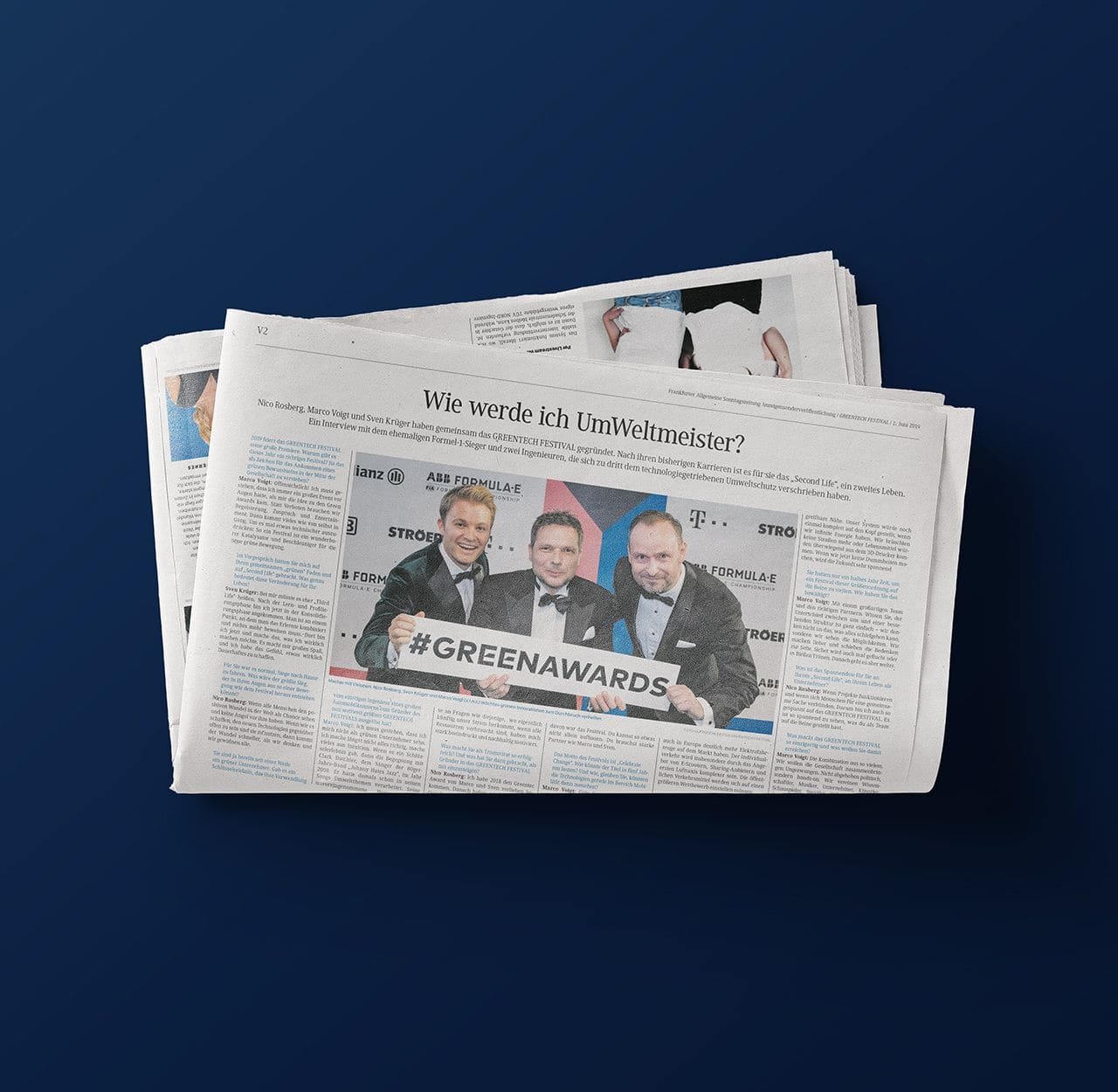 Greentech Festival in newspaper