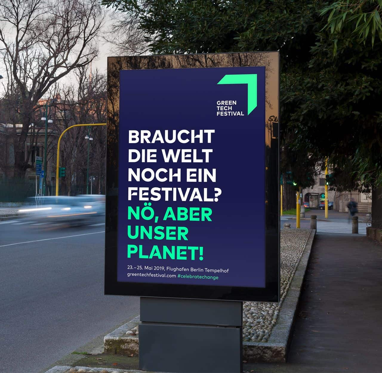 Greentech Festival digital poster design