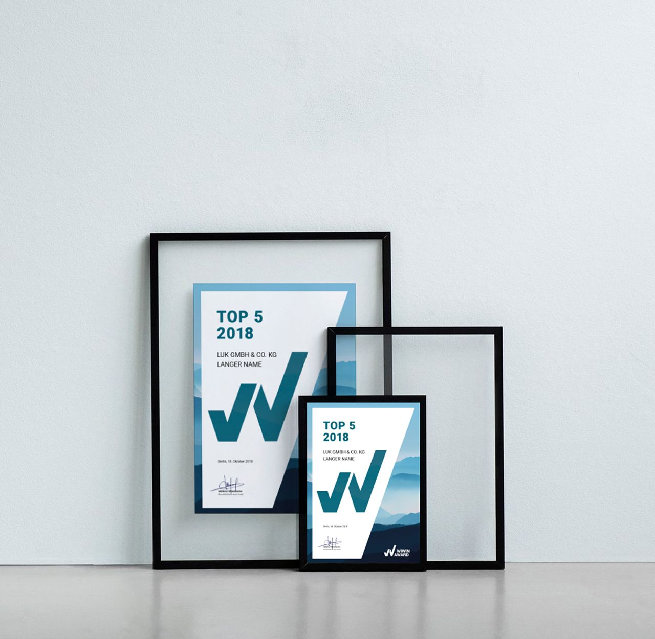 wiwin award paper design
