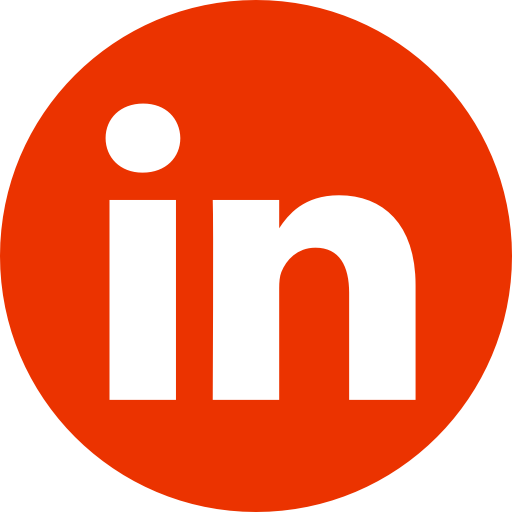 Red LinkedIn icon link