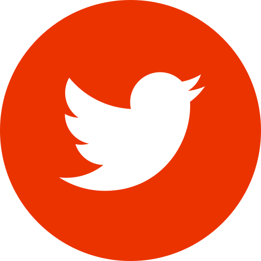 Twitter icon round and red