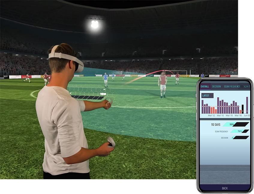 Playing VR football