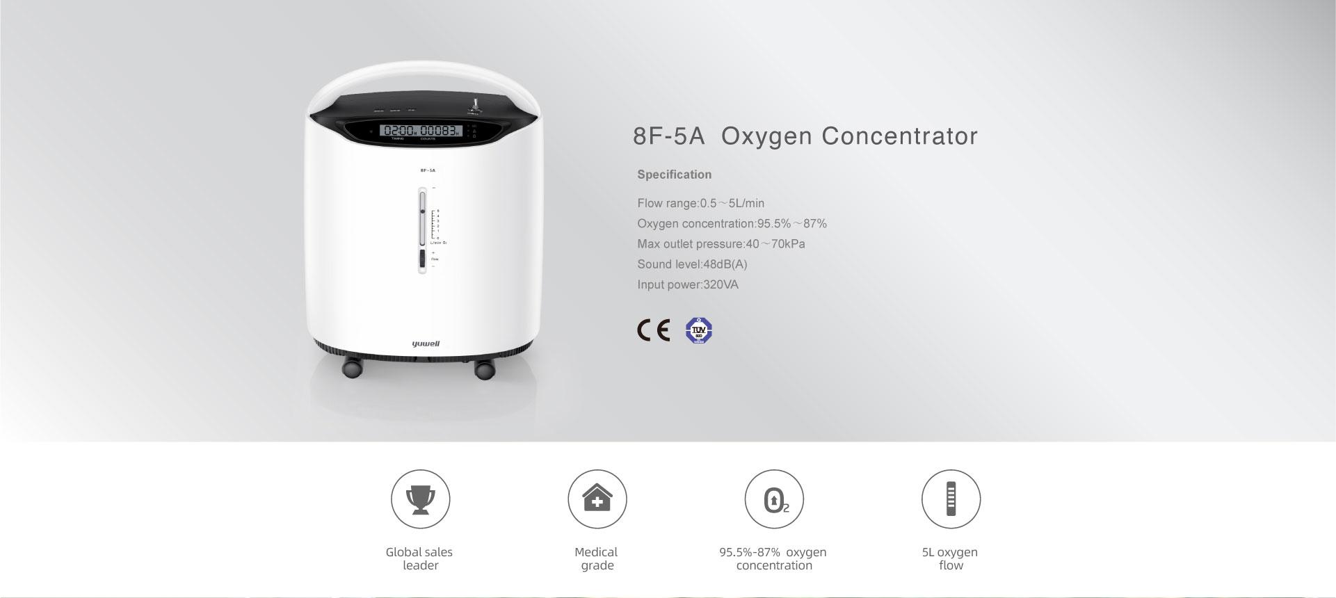 8F-5A Oxygen Concentrator - Zan-Tech