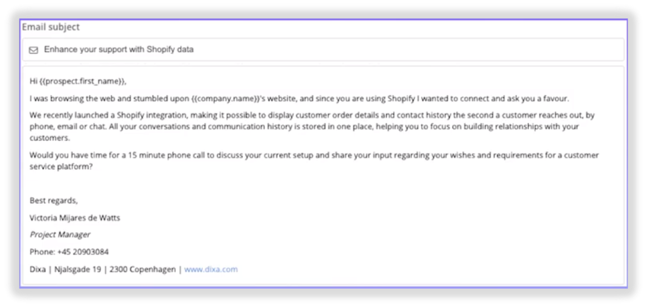 dixa-cold-email-template