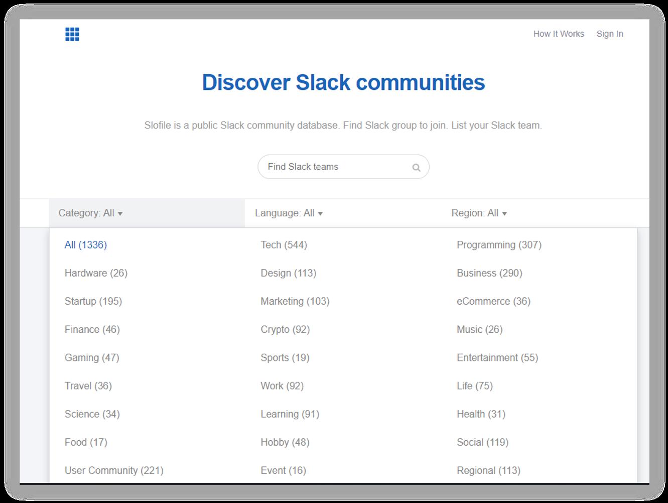 find-et-sdlack-community