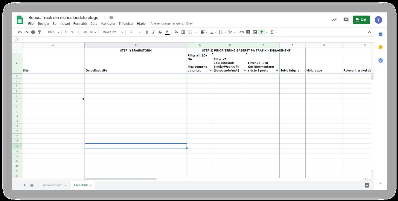 sheet-til-at-tracke-blogs