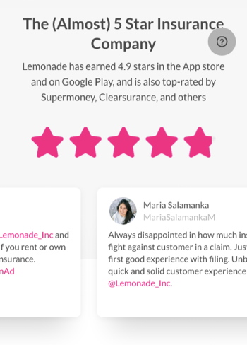 Lemonade website