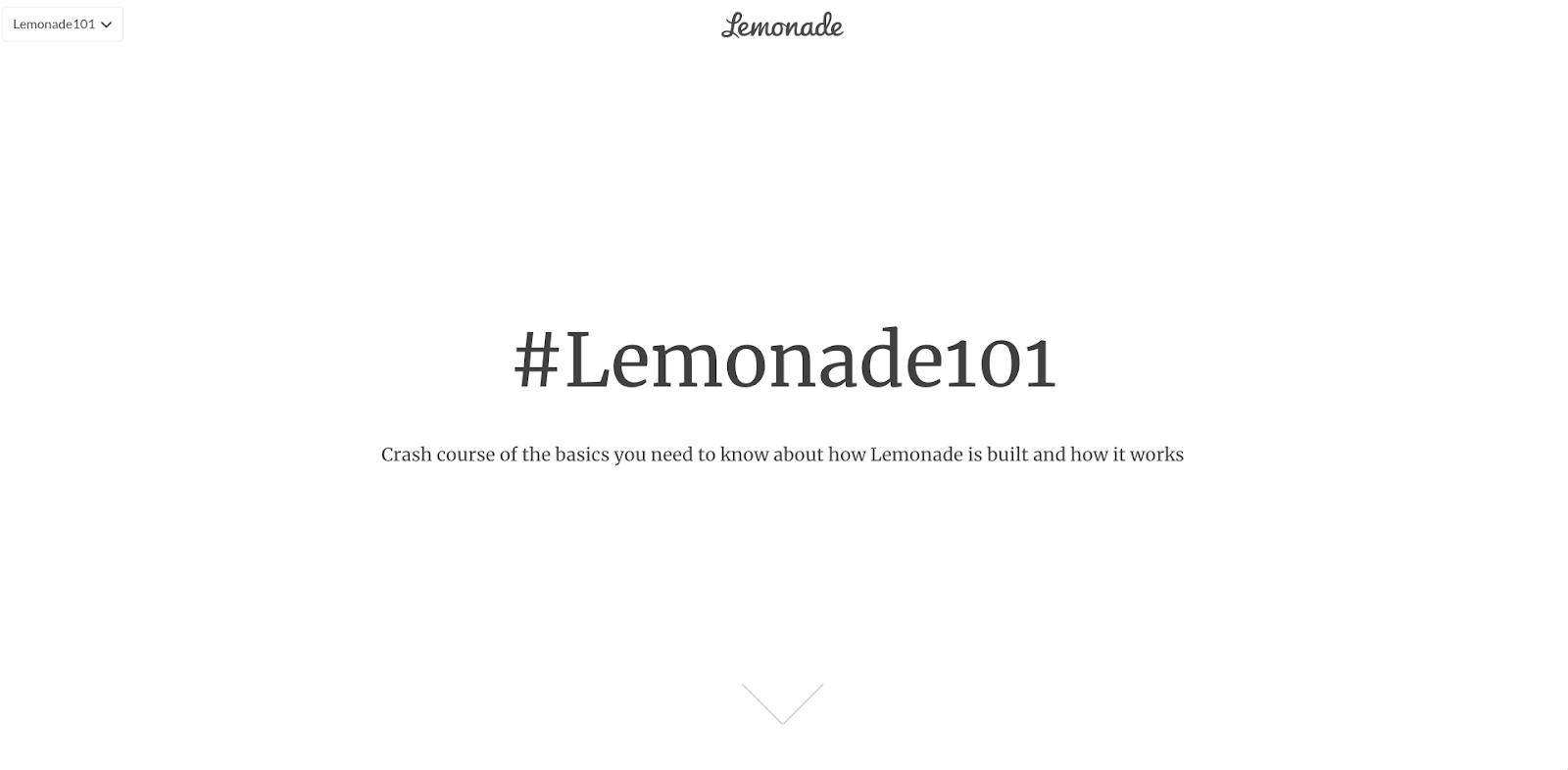 Lemonade 101