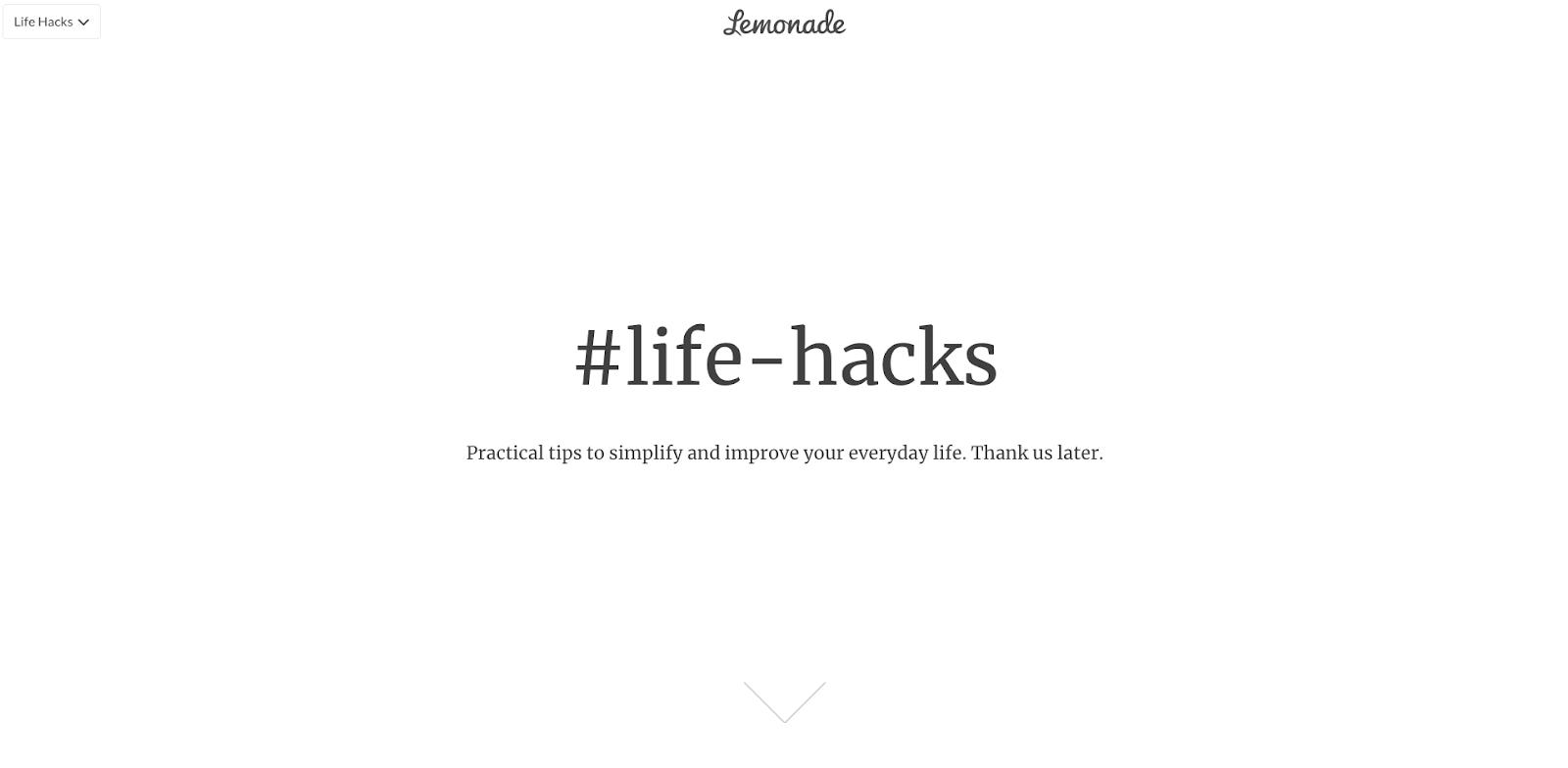 Lemonade life-hacks