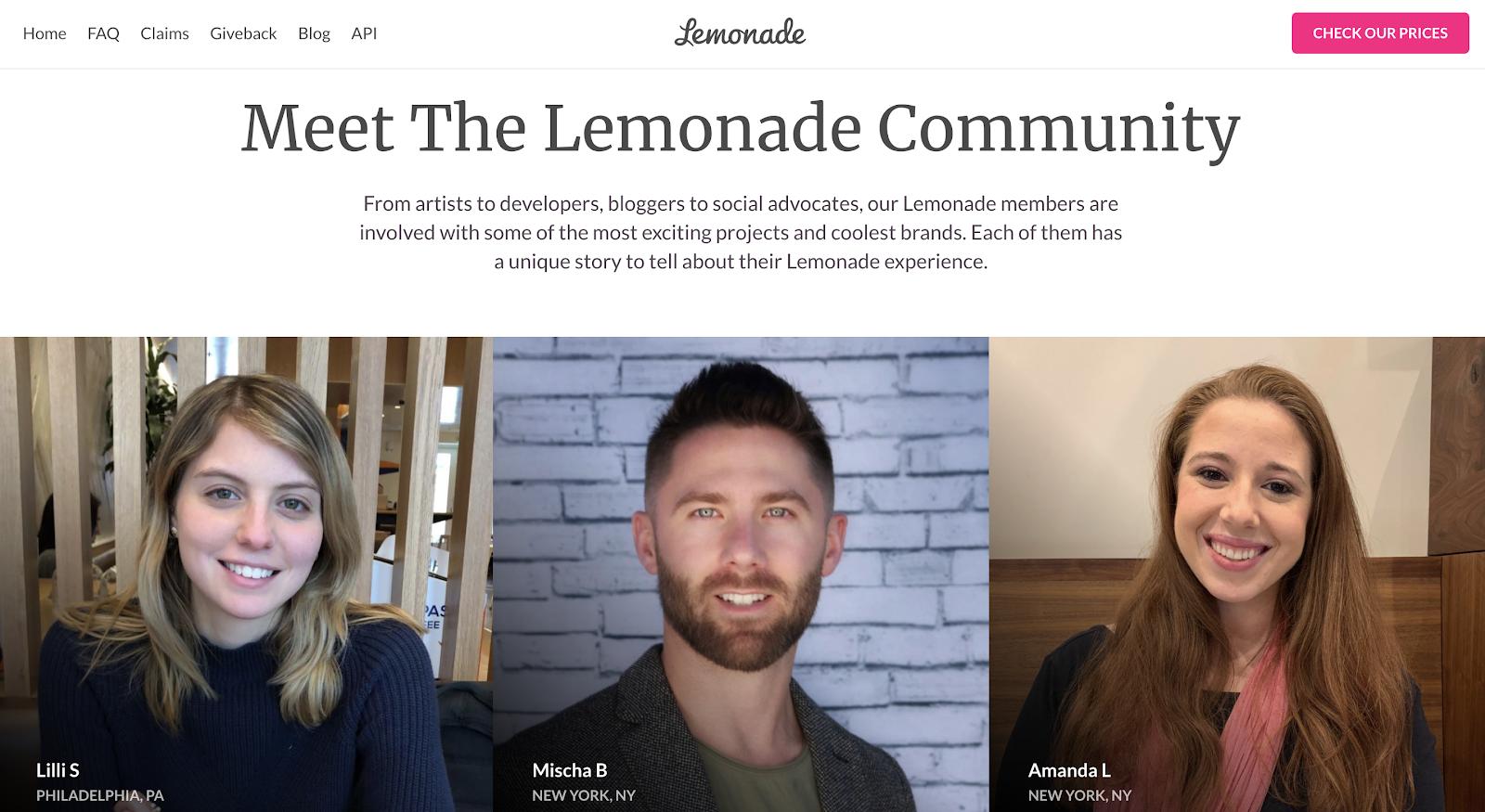 Lemonade community