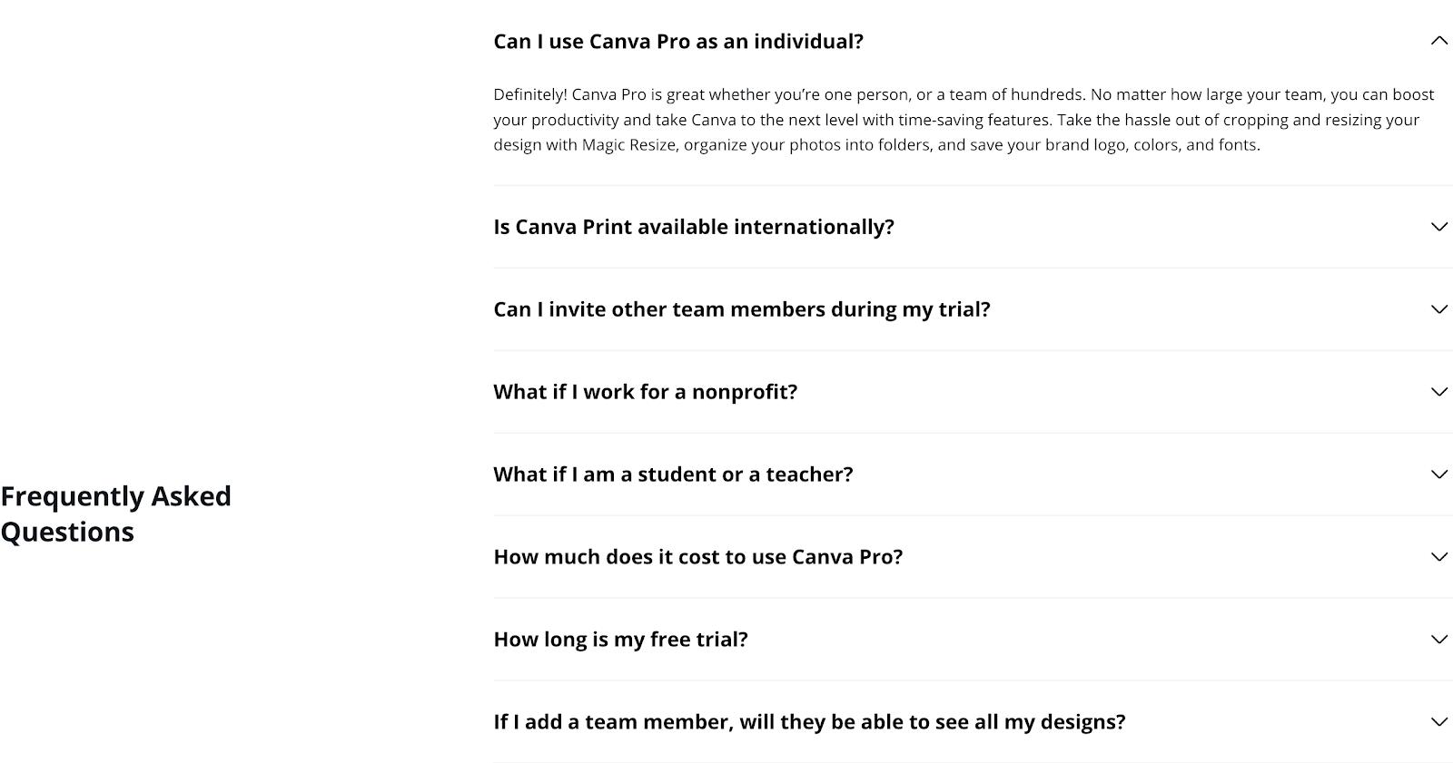 Canva FAQ