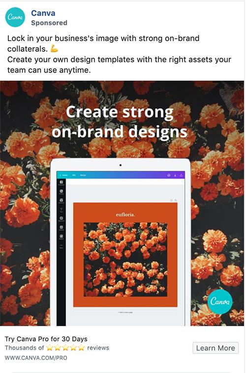 Canva on-brand designs
