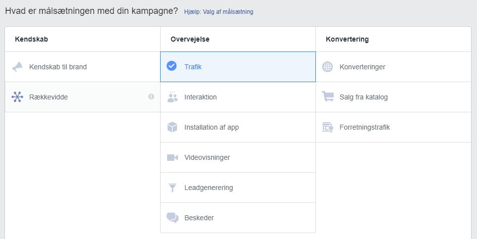 Facebook annonce målsætning