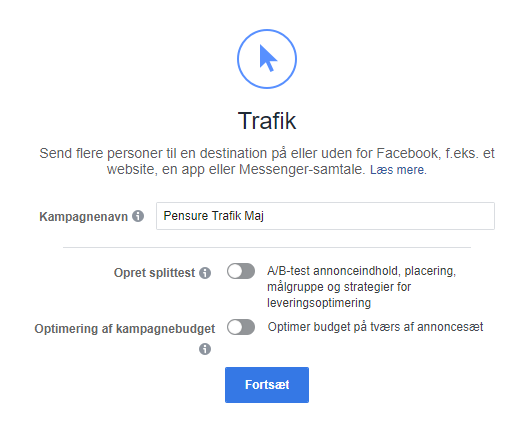 Facebook kampagnenavn