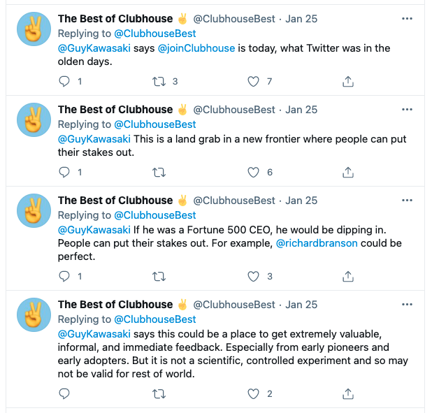 Clubhouse-tweets