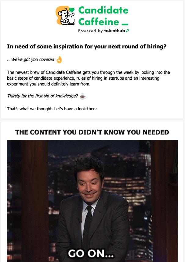 Candidate Caffeine newsletter