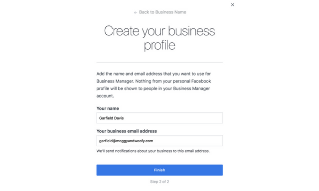create business manager profile