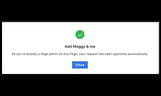 add facebook page success