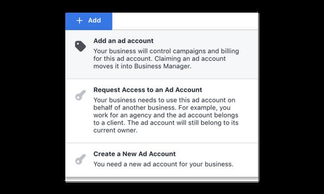 add facebook ad account