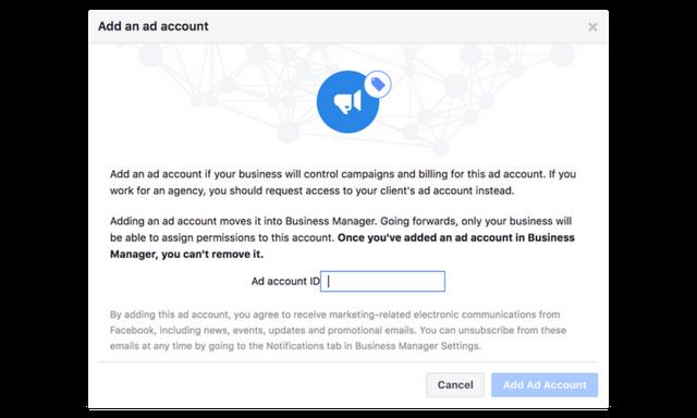 add facebook ad account id