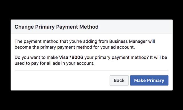change primary payment method