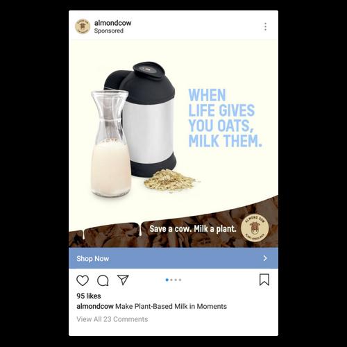 almondcow instagram ad