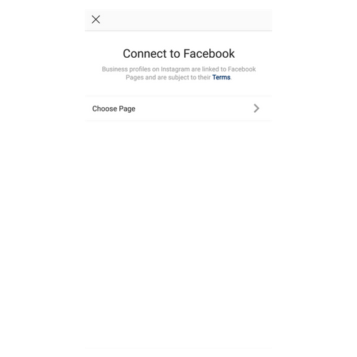 instagram connect to facebook account