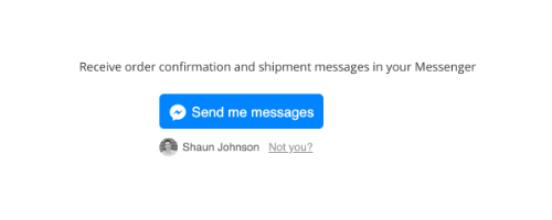 messenger transactional messages