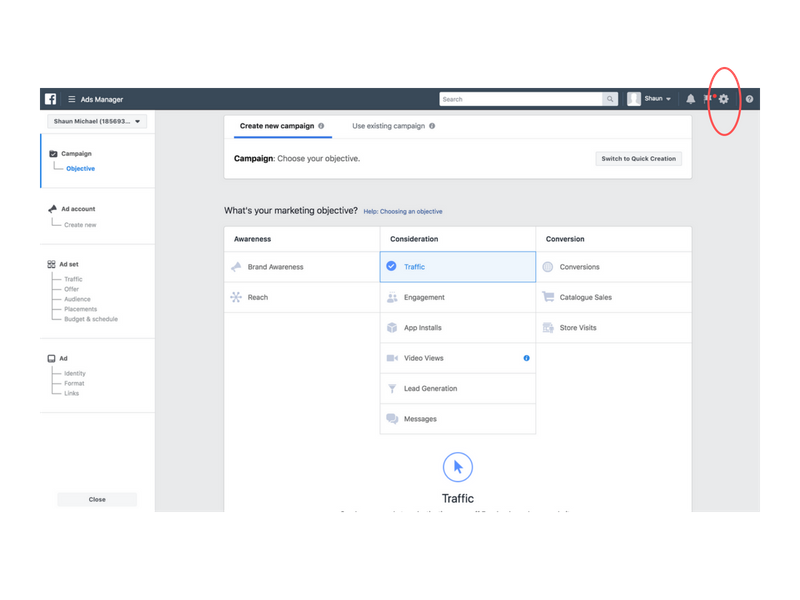 facebook ads manager dashboard