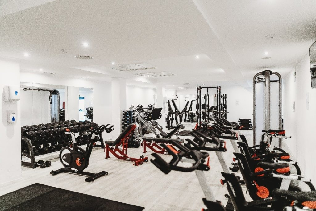 Gym Room with Equipment