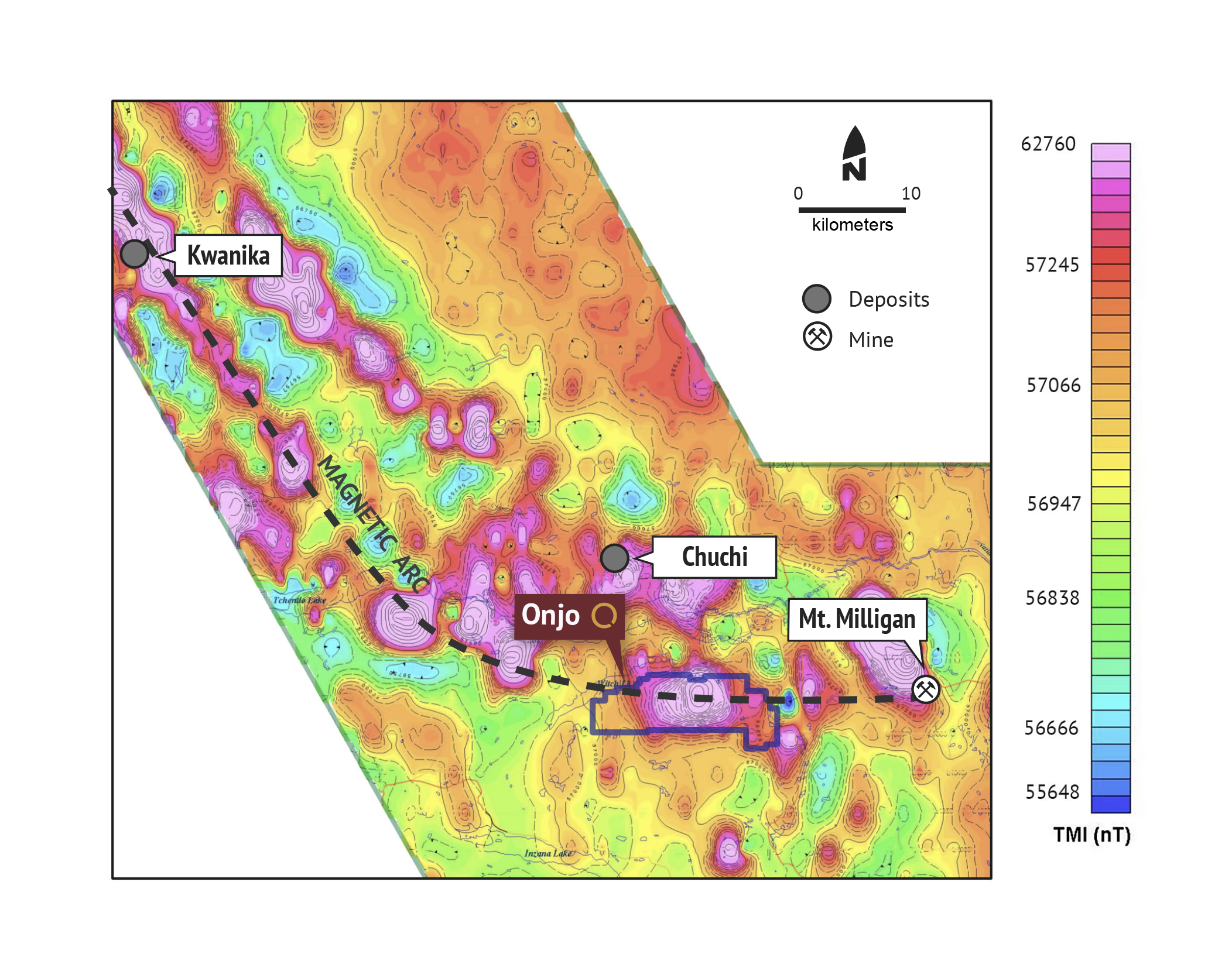 Onjo copper-gold project British Columbia Orogen Royalties