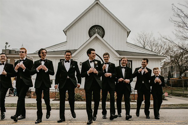 all-saints-chapel-groomsmen-outside-chapel