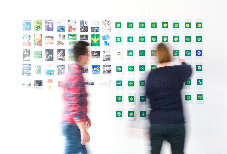 Brainstorming und Design thinking über Markendesign