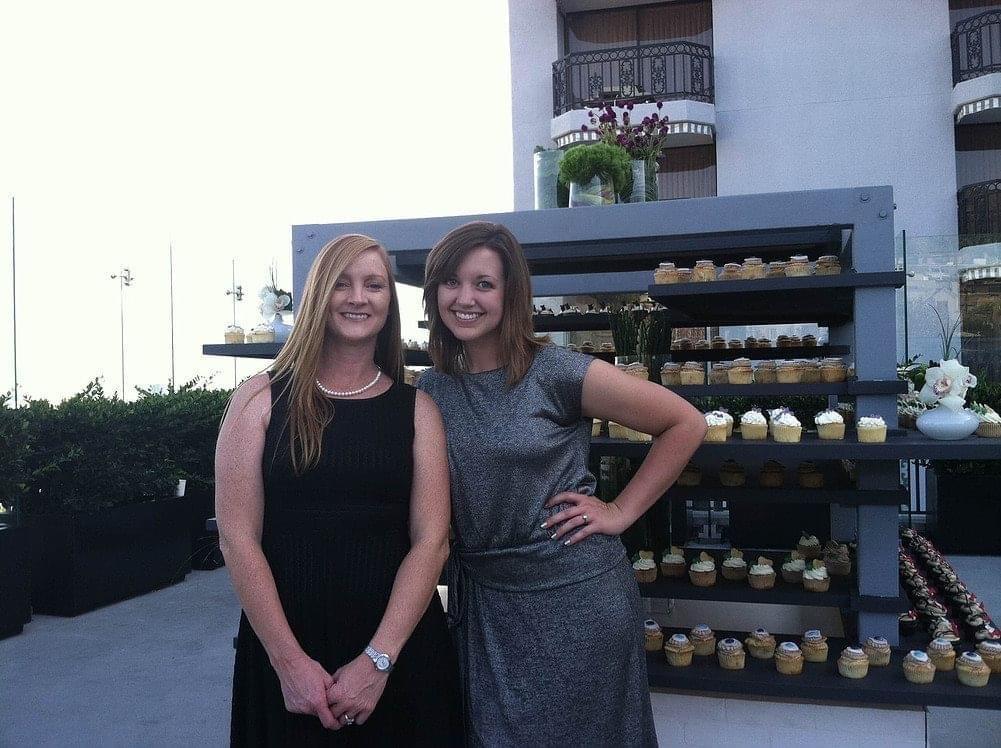 Angela and Kaylee at cupcake wars bridal bash