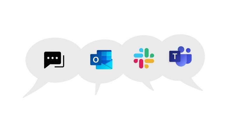Channels in speech bubbles illustration