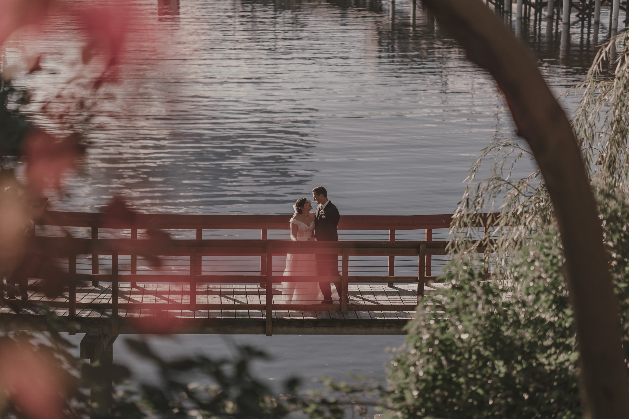 Kim and Pats Wedding Photo on bridge