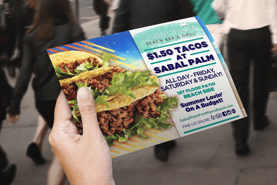 Restaurant half-page flyer design