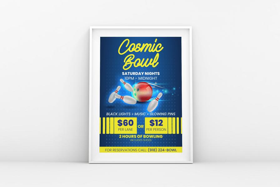 Bowling flyer design