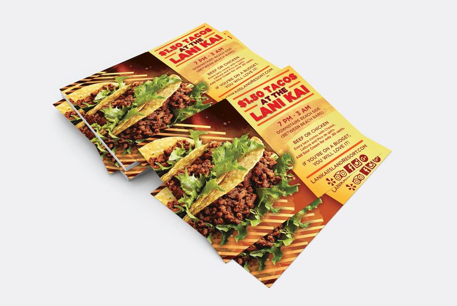 Tacos flyer design