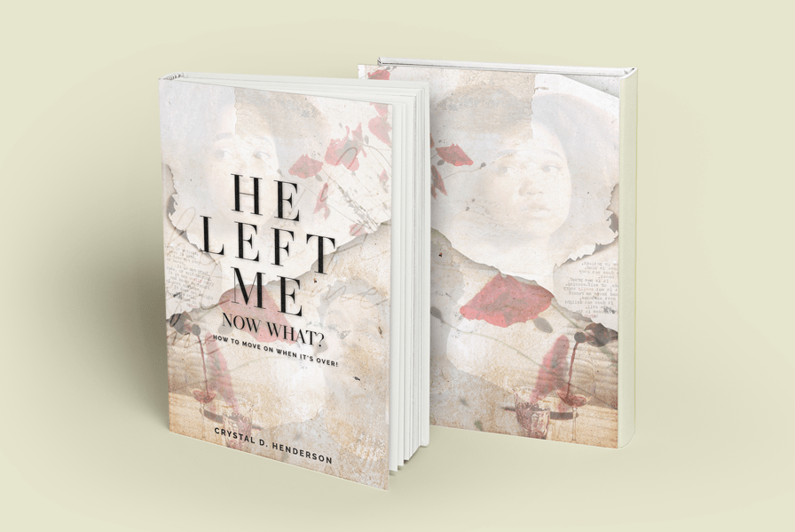 Self published book cover design