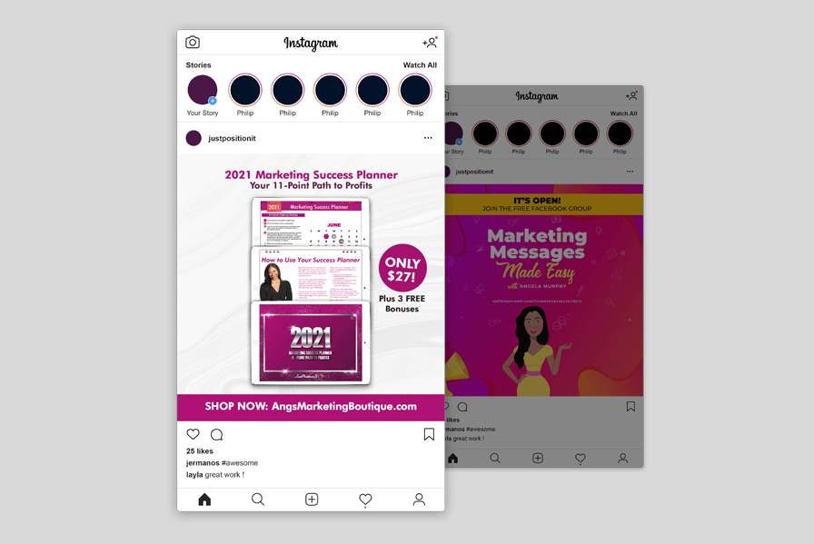 Instagram images for marketing coach