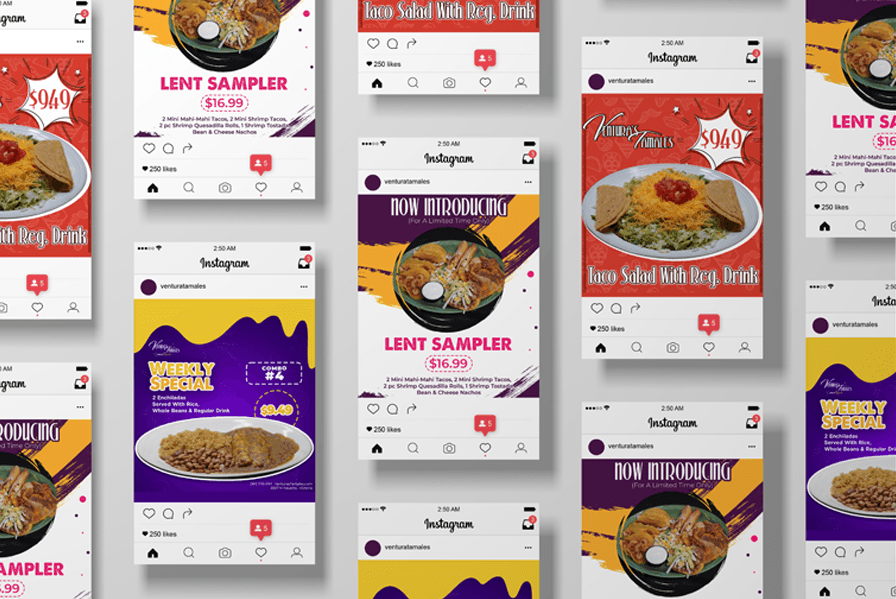 Social media images for mexican restaurant